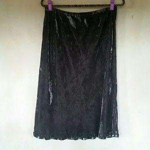 J. Jill Velvet Skirt